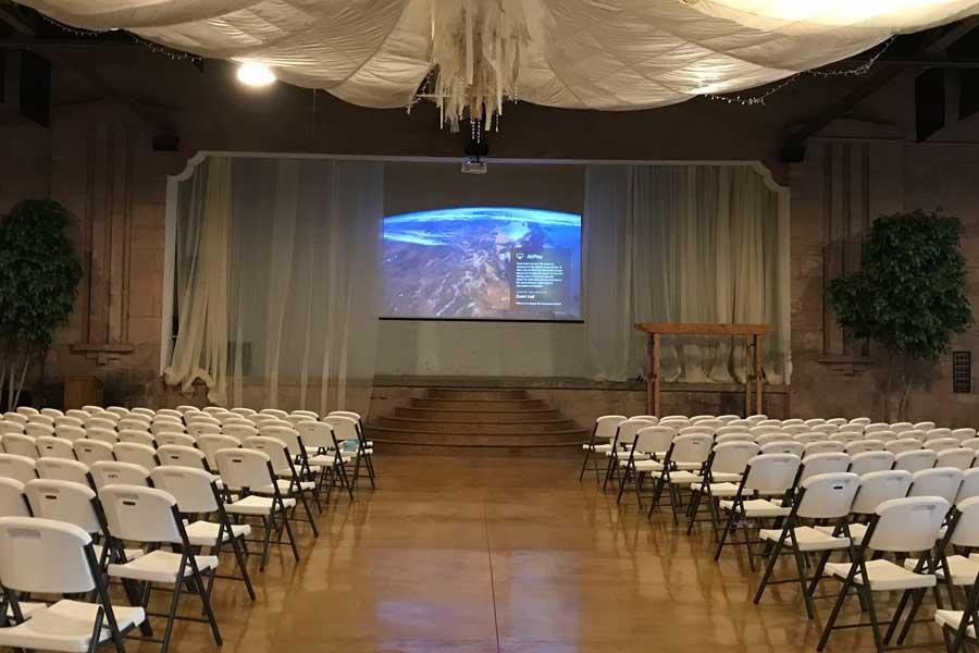 AV system installation for events