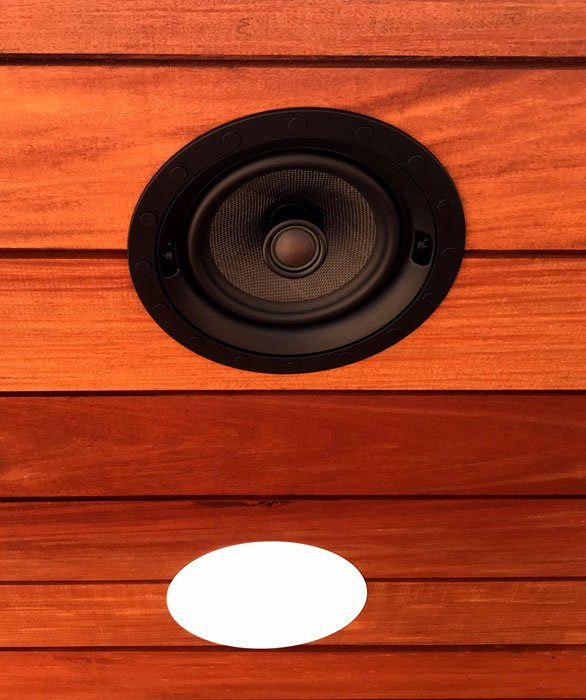 Professional Home Audio and TV Installation Artison edgeless speakers installed on the Roof deck. Installed by Vox Audio Visual Elite Services.