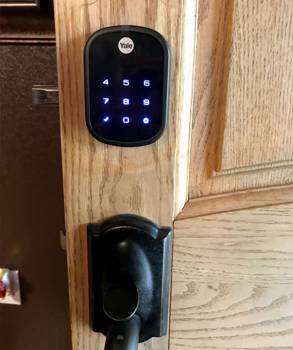 Smart Home Systems Installation - Yale Smart Home Door. Installed by Vox Audio Visual Elite Services. locks installed