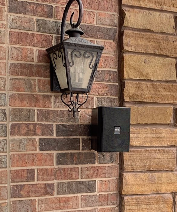 Smart Home Systems Installation outdoor speakers. Installed by Vox Audio Visual Elite Services.