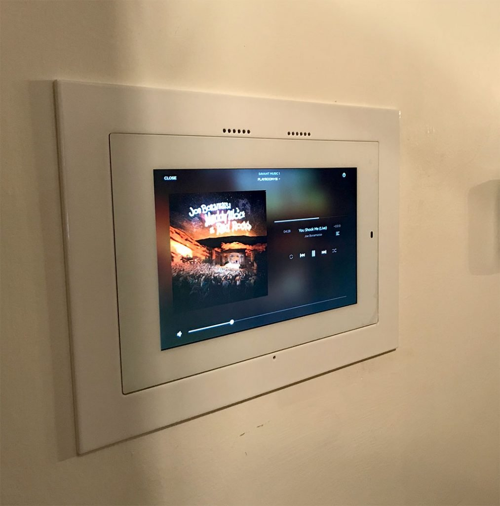 Savant Smart Home System Installation. Video zones audio zones controlled by Savant Smart Home System Control. Installed by Vox Audio Visual Elite Services.